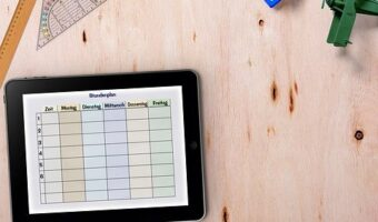 Timetable, Tablet, Table, Ruler